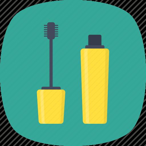 beauty product, cosmetics, eye makeup, grooming, mascara icon