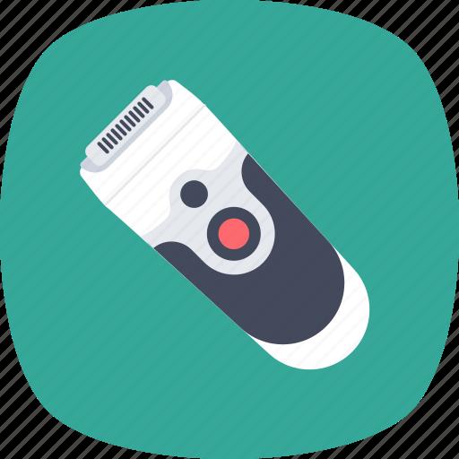 beard trimmer, electric razor, epilator, shaving machine, trimmer icon