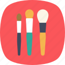 accessories, applicator, blush brush, cosmetics, makeup brushes icon
