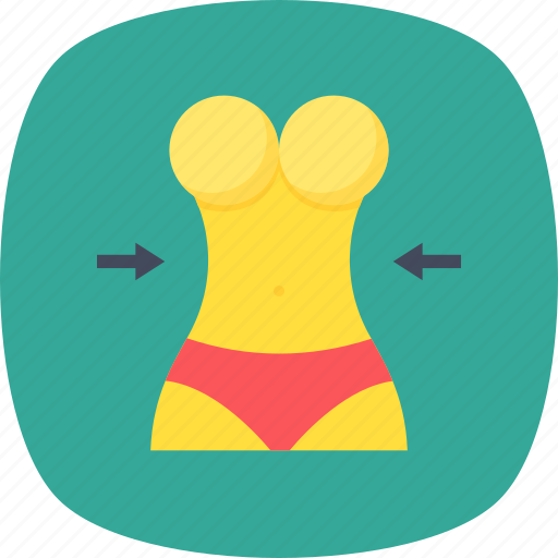 active woman, slim waist, waist, waistline, weight loss icon
