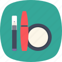 compact, cosmetic, lipstick, makeup, mascara icon
