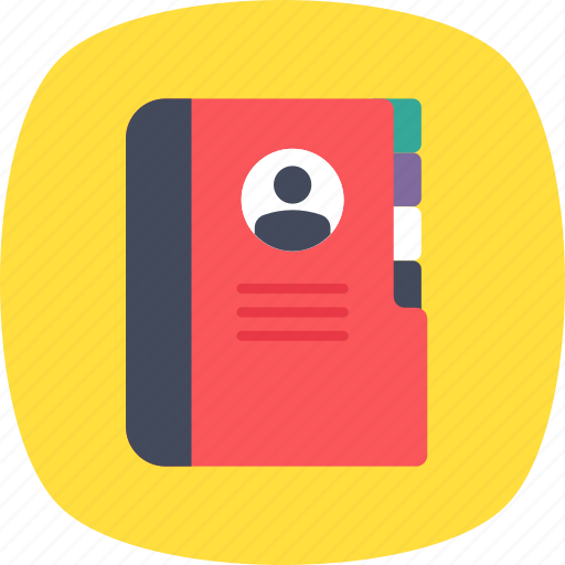 account book, address book, contacts, phone directory, phonebook icon