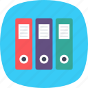 archives, binders, file folder, files, office folder icon