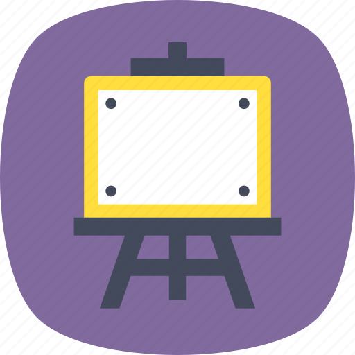blackboard, canvas, easel, notice board, whiteboard icon