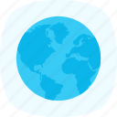 earth, globe, internet, planet, world map icon