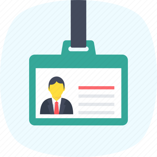 employee card, id badge, id card, id pass, identity icon