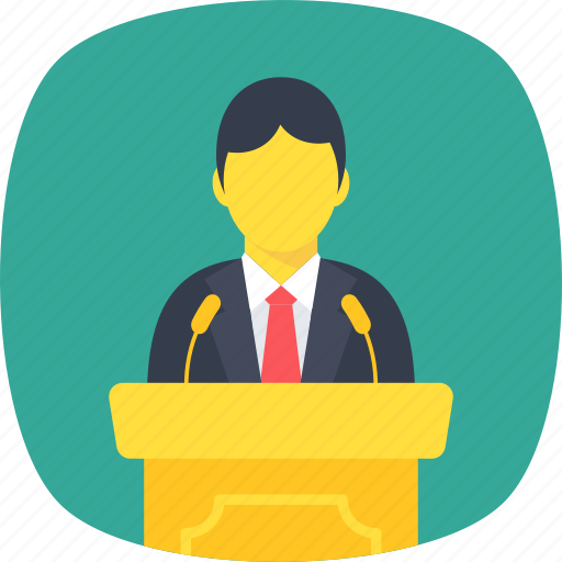 debate, lecture, seminar, speech, talk icon