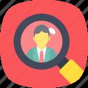 recruitment, job applications, human resources, selection procedure, job hiring icon