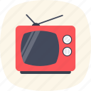 electronics, media, retro tv, television, tv icon