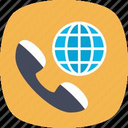 global communication, international call, international dialing, satellite communication, world communication icon