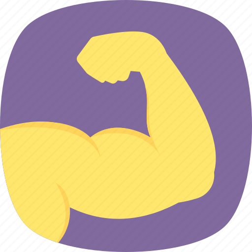 biceps, fitness, muscle arm, muscular arm, strong arm icon