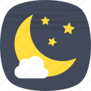 evening, night, night sky, night time, nightfall icon