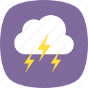 lightning clouds, stormy weather, bad weather, severe weather, thunderstorm icon