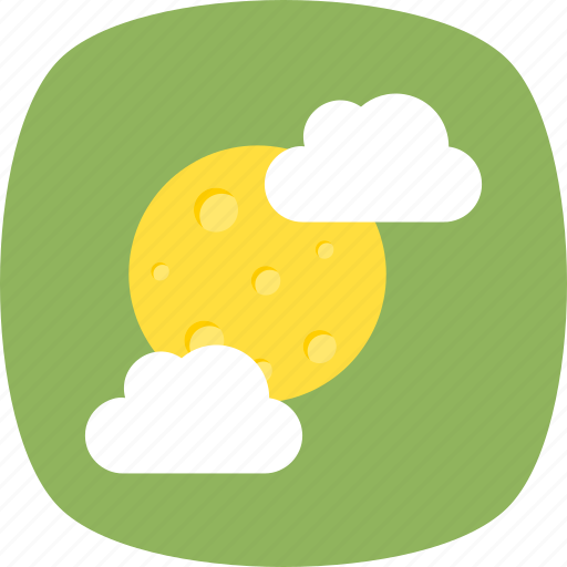 cold weather, pleasant weather, sun with cloud, weather forecast, weather report icon