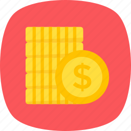 coins stack, currency coin, dollar coins, dollars pile, money icon