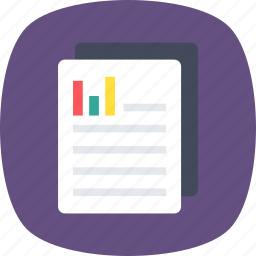 business analysis, business growth, financial report, graph sheet, market analysis icon