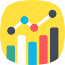analytics, bar chart, bar graph, diagram, statistics icon