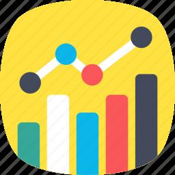 analytics, bar chart, bar graph, diagram, statistics icon
