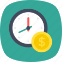 planning, productivity, save money, time is money, time management icon