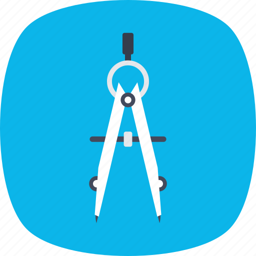caliper, compass, gauge, geometry tool, measurement icon