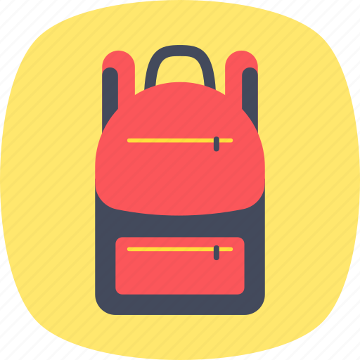 backpack, bag, baggage, sackpack, travel bag icon