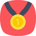 first placement, gold medal, championship, achievement, success icon