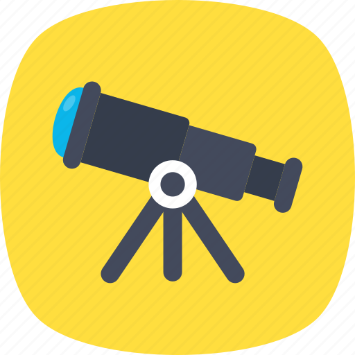 astronomy, space science, spyglass, telescope, vision icon