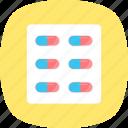 medical treatment, medication, pills, remedy icon
