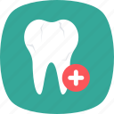 dental clinic, dental health, dentistry, human tooth, tooth icon