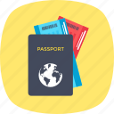 boarding pass, passport, travelling, visa, world trip