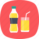 beverage, drink, juice bottle, juice glass, soft drink icon