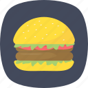 fast food, food, hamburger, junk food icon