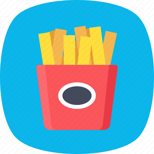 French fries, french fries box, fries box, frites, potato fries icon - Download on Iconfinder