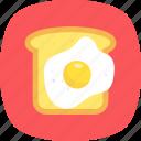 bread slice, breakfast, fry egg, omelette, toast icon