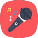 karaoke, mic, microphone, recording, singing icon
