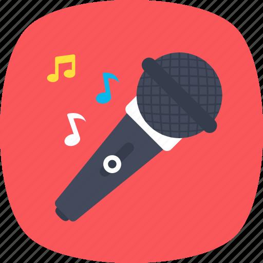 karaoke, mic, microphone, recording, singing icon