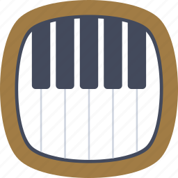 chords, music, musical instruments, piano, piano keyboard icon