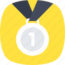 achievement, championship, first placement, gold medal, success icon