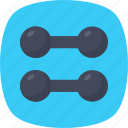 bodybuilding, exercise, hand dumbbell, weight, workout icon