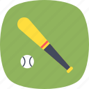 baseball, baseball bat, game, sports, sports ball icon