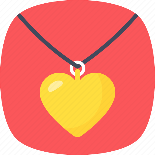 heart necklace, jewellery, necklace, pendant, valentine gift icon