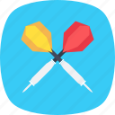 archery, bullseye arrow, dart, dart pin, dart stick icon