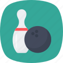 bowling, bowling alley, bowling pins, game, play icon