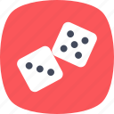 casino, dice, dice cube, gambling, luck game icon