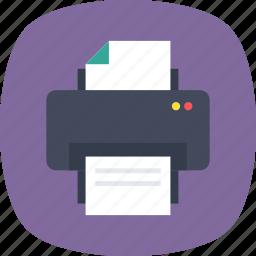 facsimile, fax machine, office supplies, printer, printing icon
