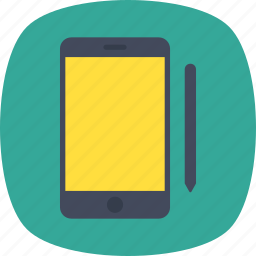 cell phone, mobile, mobile ui, smartphone, stylus pen icon