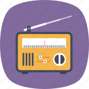 broadcasting device, mass media, portable radio, radio receiver, technology icon