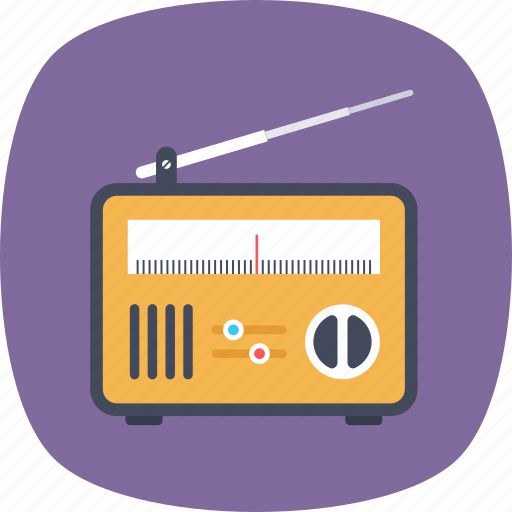 broadcasting device, mass media, portable radio, radio receiver, technology icon