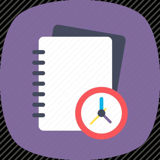 deadline, notice, reminder, timetable, work planner icon