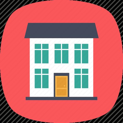 building, bungalow, duplex house, dwelling, luxury house icon
